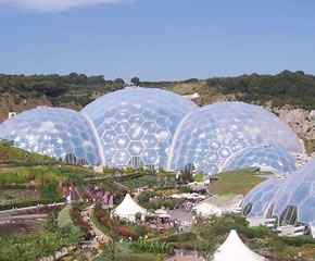 The Eden project is just a 2 hour drive